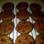 Banana cranberry bran muffins