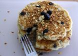 Healthy Blueberry Granola Pancakes