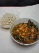 chickpea and kale tikka masala stew