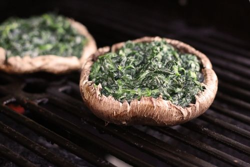 Spinach Stuffed Portobella Mushrooms