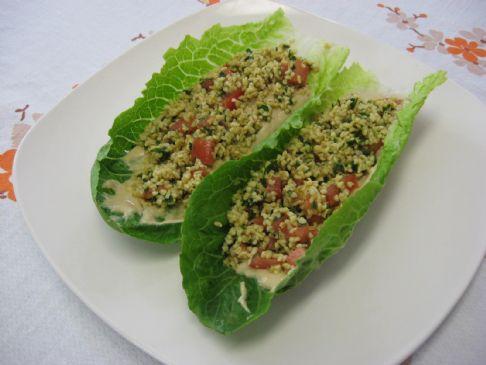 Vegan Gluten Free Tabouli Lettuce Wraps