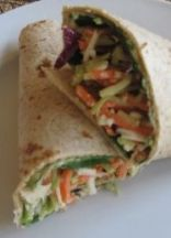 Easy Hummus Wrap