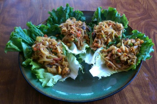 MY Tofu Veggie Stuffed Asian Lettuce Wraps