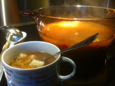 Alphabet Veggie Soup
