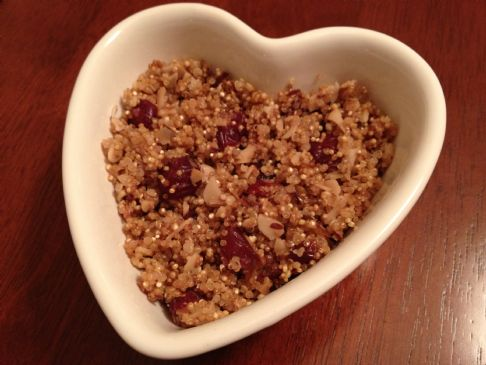 Quinoa with Toasted Almonds & Cranberries (1/3 cup serving; 60g)