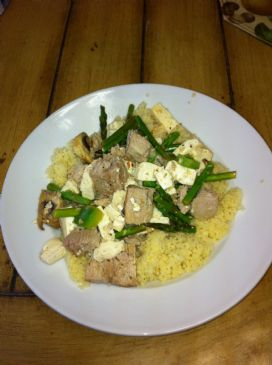 Sticks' Ahi and Tofu with Couscous