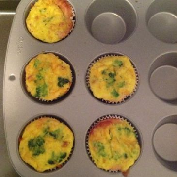 Broccoli, Ham and Cheddar Mini Quiche