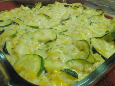 Squash & Rice Casserole Recipe | SparkRecipes