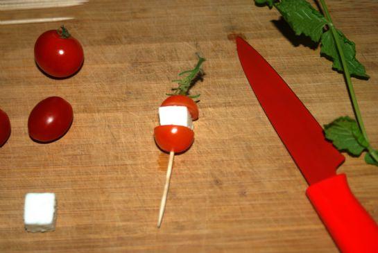 Tomato Feta Garnish