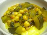 Zucchini and Tomato Garden Stew over Polenta