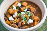 Sweet Potato- Black Bean Chili w/ Goat Cheese