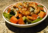 Papaya, Grapefruit & Avocado Salad with Grilled Shrimp