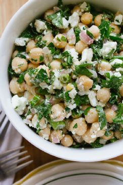 Chickpeas with Feta and Parsley