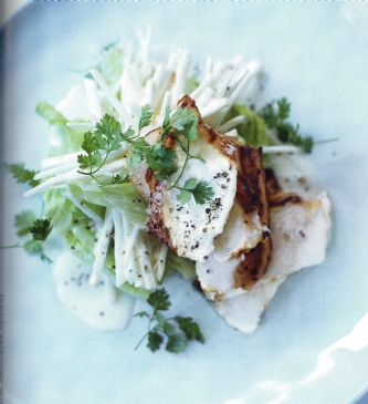 Garlic Chicken with Creamy Celeriac Salad