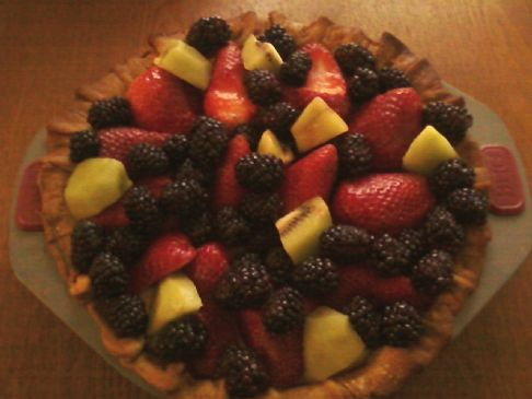 Easter Fresh Fruit Custard Tart