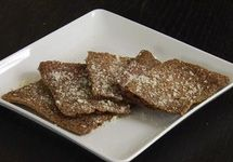 Garlic Parmesan Flax Crackers