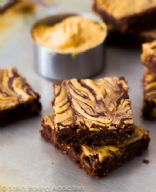 Skinny Peanut Butter Swirl Brownies