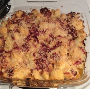 Cheesy Cauliflower with Turkey Bacon
