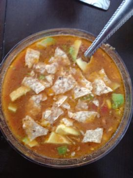 Simple Chicken Tortilla Soup in Crock Pot