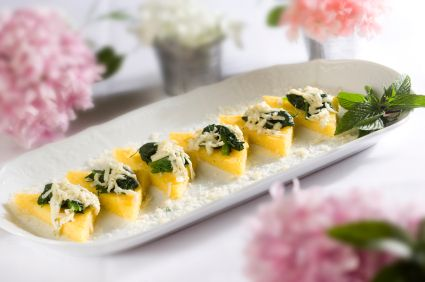 Chef Meg's Festive Polenta Rounds