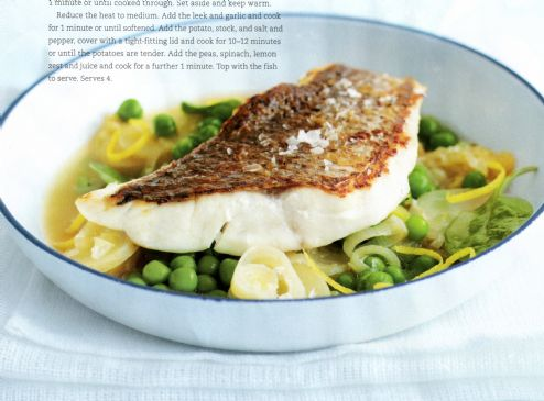 Pan Fried Fish With Potato Amp Leek Recipe Sparkrecipes