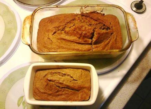 Lower Fat Pumpkin Bread