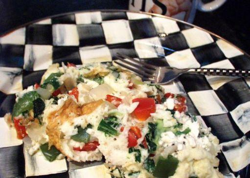 Hormone Diet Mediterranean Egg White Veggie Omelette