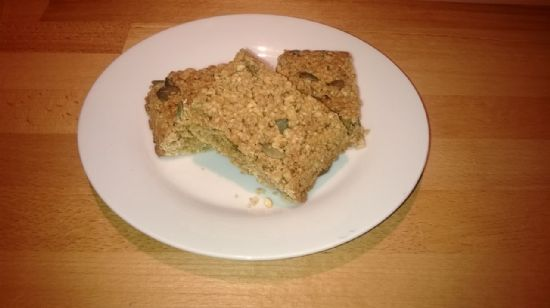 Healthy seed and nut flapjacks