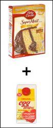 Cake Mix + Fat-Free Liquid Egg Substitute