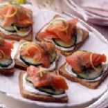 Smoked Salmon & Cucumber Tea Sandwiches