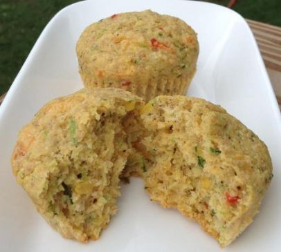Zucchini and Jalapeno Corn Muffins