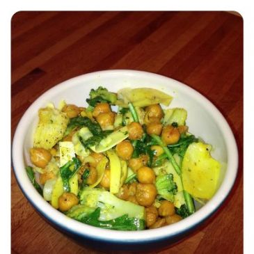 Roasted Chick Peas with Artichoke