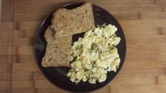 Jalapeno & Cheese Scrambled Eggs