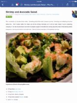 Shrimp and Avocado Salad FTW