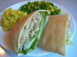 Tuna Salad in Whole Wheat Pita