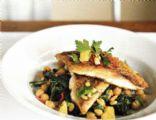 Crispy Skinned Fish with Orange, Parsley & Pine Nut Salad