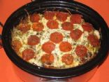 Crockpot pizza pasta