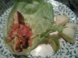 Healthy (but delicious) Salmon Lettuce Wraps