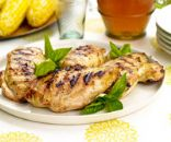 Mustard-Basil Chicken with Grilled Corn