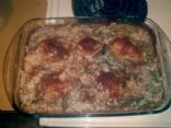 Chicken Casserole w/cream of mushroom & rice