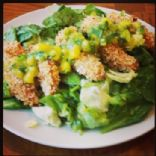Chicken Tender Salad with Mango Jalapeno Vinaigrette