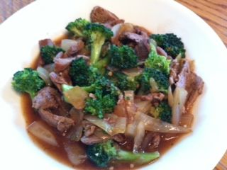 HCG Beef and Broccoli with Ginger Sauce