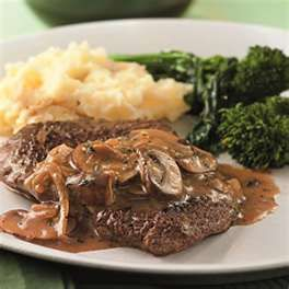 Black Pepper Cube Steaks & Mushroom Cream Sauce