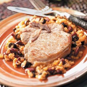 Rice and Bean Mix for Mexican Pork Chops