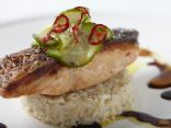 Soy-Glazed Salmon with Quick-Pickled Cucumber Salad