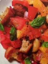 Warm Bread Salad with Tomatos