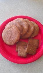 Sesame honey oats crisps/crackers