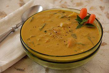 Golden Austrian Cauliflower Cream Soup
