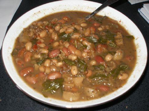 Vegan Sausage and Bean Soup