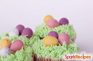 Vanilla Easter Grass Cupcakes Recipe